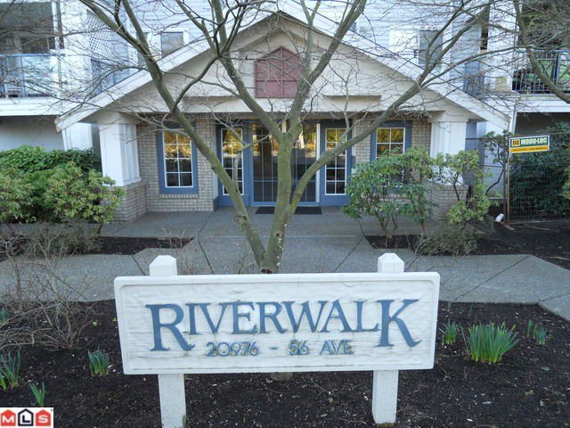 "Main Photo: 114 20976 56TH Avenue in Langley: Langley City Condo for sale in ""RIVER WALK"" : MLS®# F1018298"