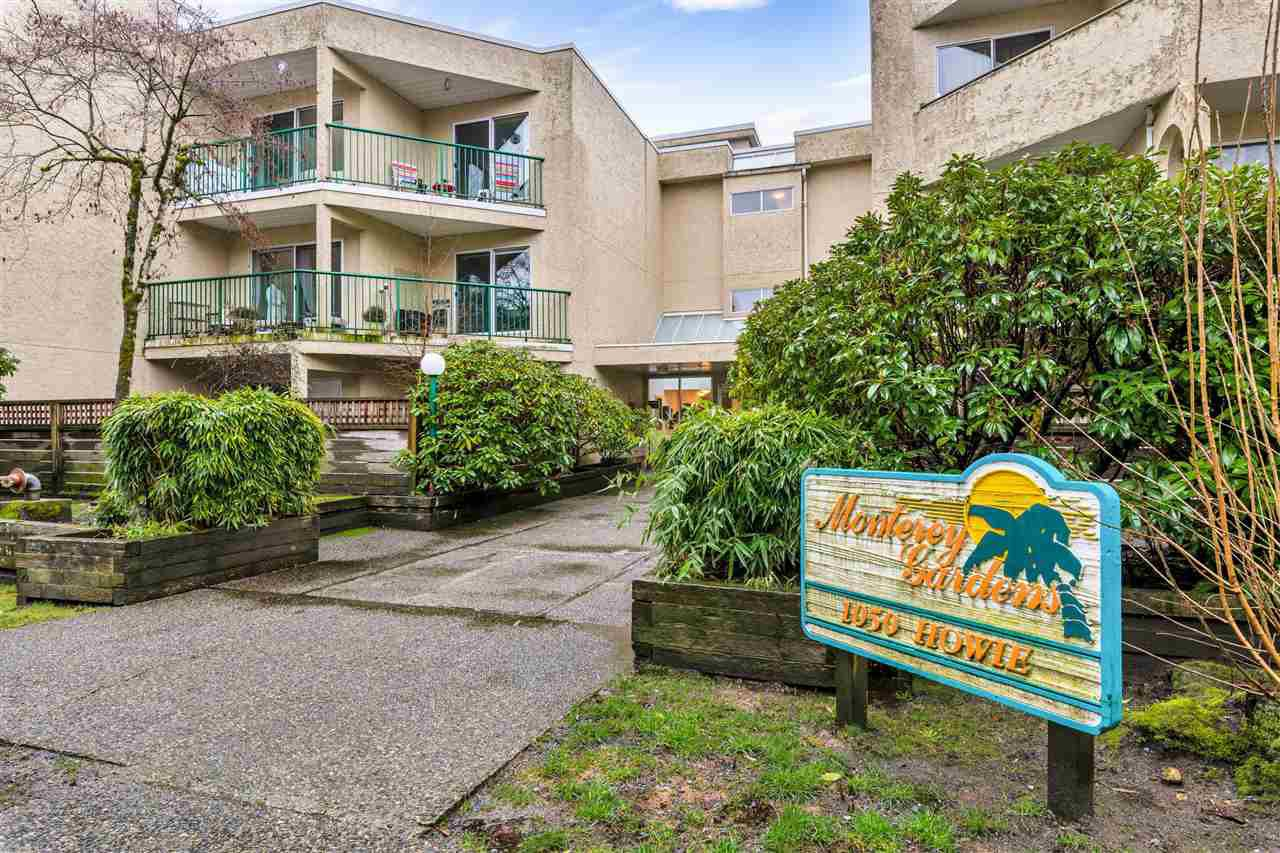 "Main Photo: 108 1050 HOWIE Avenue in Coquitlam: Central Coquitlam Condo for sale in ""Monterey Gardens"" : MLS®# R2433399"