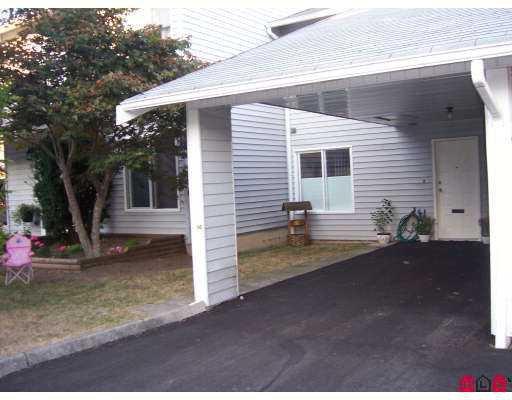 "Main Photo: 68 26970 32ND AV in Langley: Aldergrove Langley Townhouse for sale in ""PARKSIDE VILLAGE"" : MLS®# F2621207"