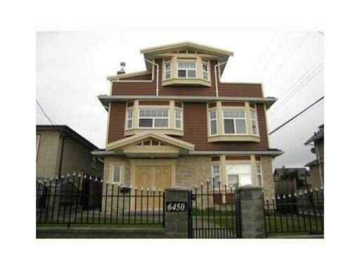 Main Photo: 6450 ST GEORGE Street in Vancouver: Fraser VE House for sale (Vancouver East)  : MLS®# V851597