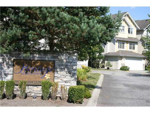 """Main Photo: 25 1108 RIVERSIDE Close in Port Coquitlam: Riverwood Townhouse for sale in """"HERITAGE MEADOWS"""" : MLS®# V846523"""