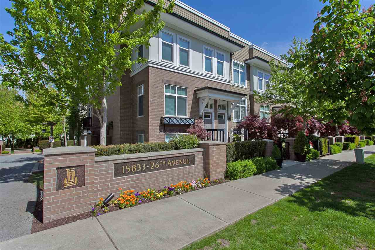 """Main Photo: 9 15833 26 Avenue in Surrey: Grandview Surrey Townhouse for sale in """"Brownstones"""" (South Surrey White Rock)  : MLS®# R2418579"""