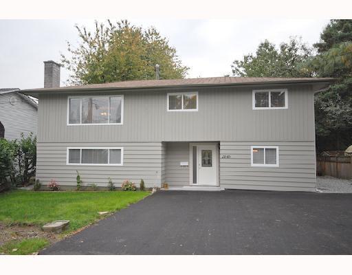 Main Photo: 2446 CHILCOTT Avenue in Port Coquitlam: Woodland Acres PQ House for sale : MLS®# V810287