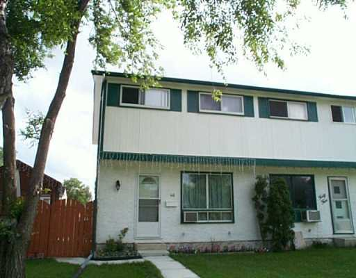 Main Photo: 46 TREGER Bay in WINNIPEG: East Kildonan Single Family Attached for sale (North East Winnipeg)  : MLS®# 2510910