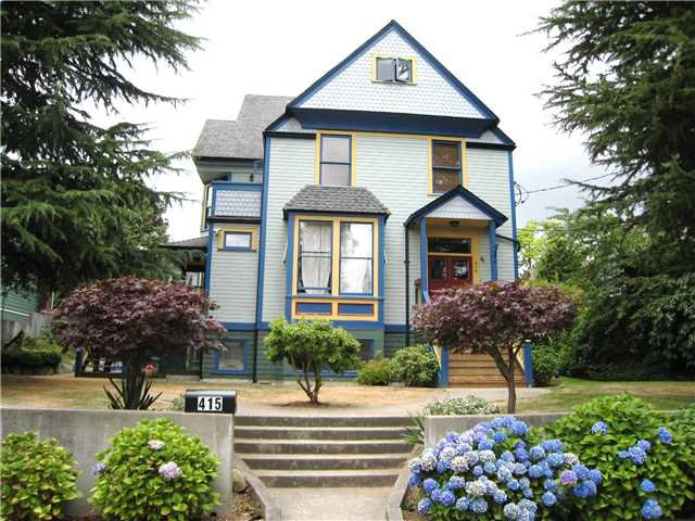 Main Photo: 415 ST. GEORGE Street in New Westminster: Queens Park House Duplex for sale : MLS®# V1135427