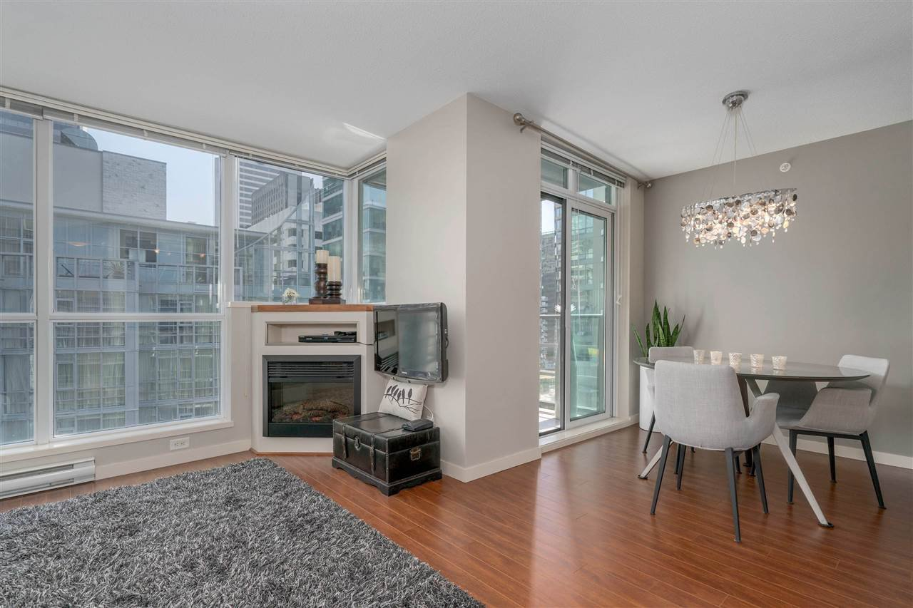 "Excellent ""wide"" floor plan with floor to ceiling windows and a relaxing electric fireplace."