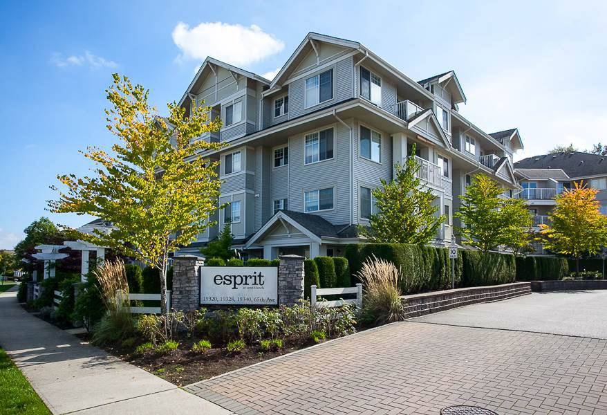 "Main Photo: 104 19340 65 Avenue in Surrey: Clayton Condo for sale in ""Esprit"" (Cloverdale)  : MLS®# R2014619"