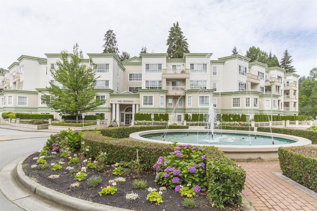 "Main Photo: 201 2960 PRINCESS Crescent in Coquitlam: Canyon Springs Condo for sale in ""THE JEFFERSON"" : MLS®# R2082440"
