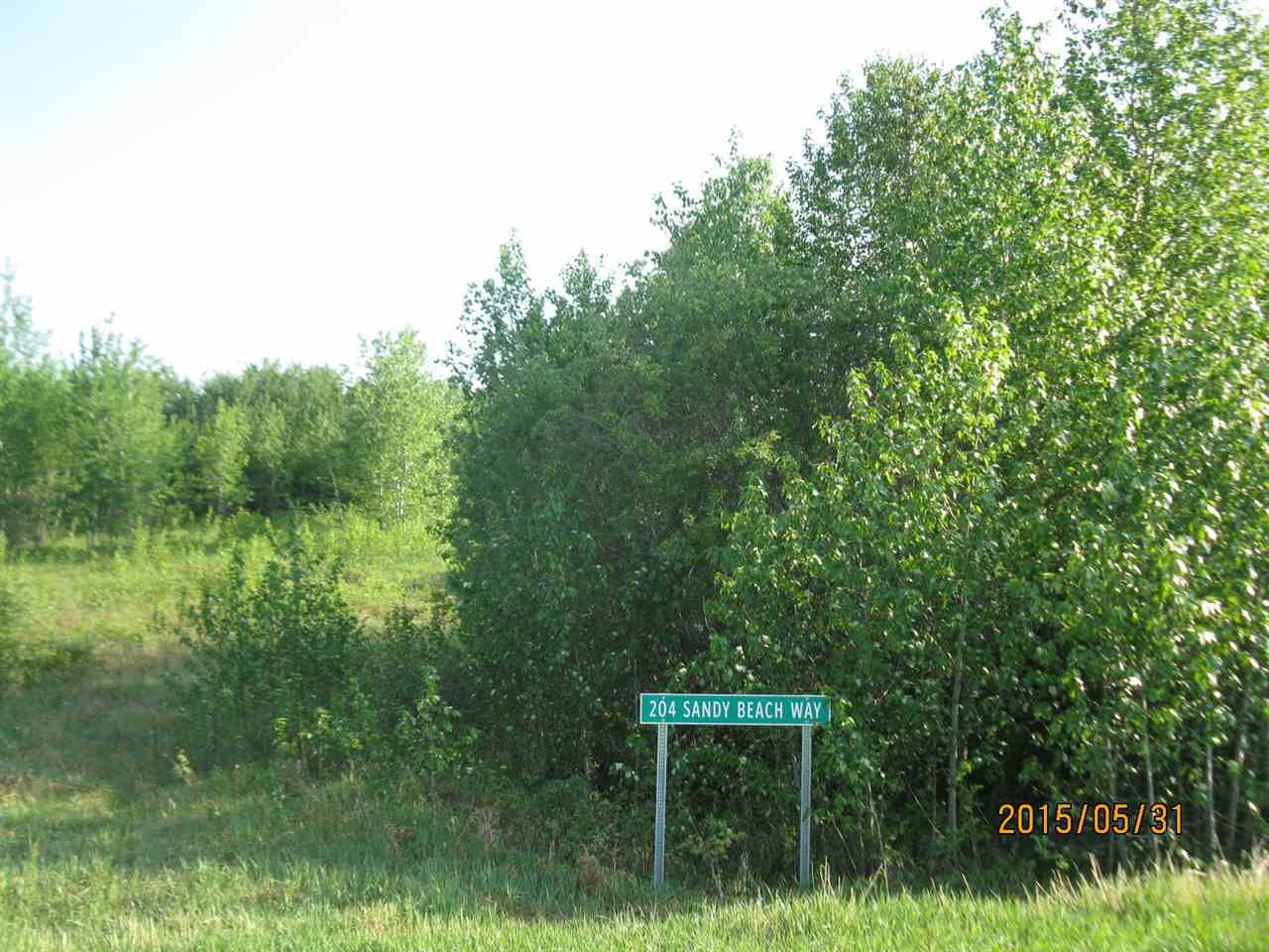 Main Photo: 204 Sandy Beach Way: Rural Two Hills County Rural Land/Vacant Lot for sale : MLS®# E4127263