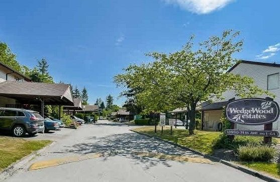 "Main Photo: 131 13880 74 Avenue in Surrey: East Newton Townhouse for sale in ""WEDGEWOOD ESTATES"" : MLS®# R2227734"