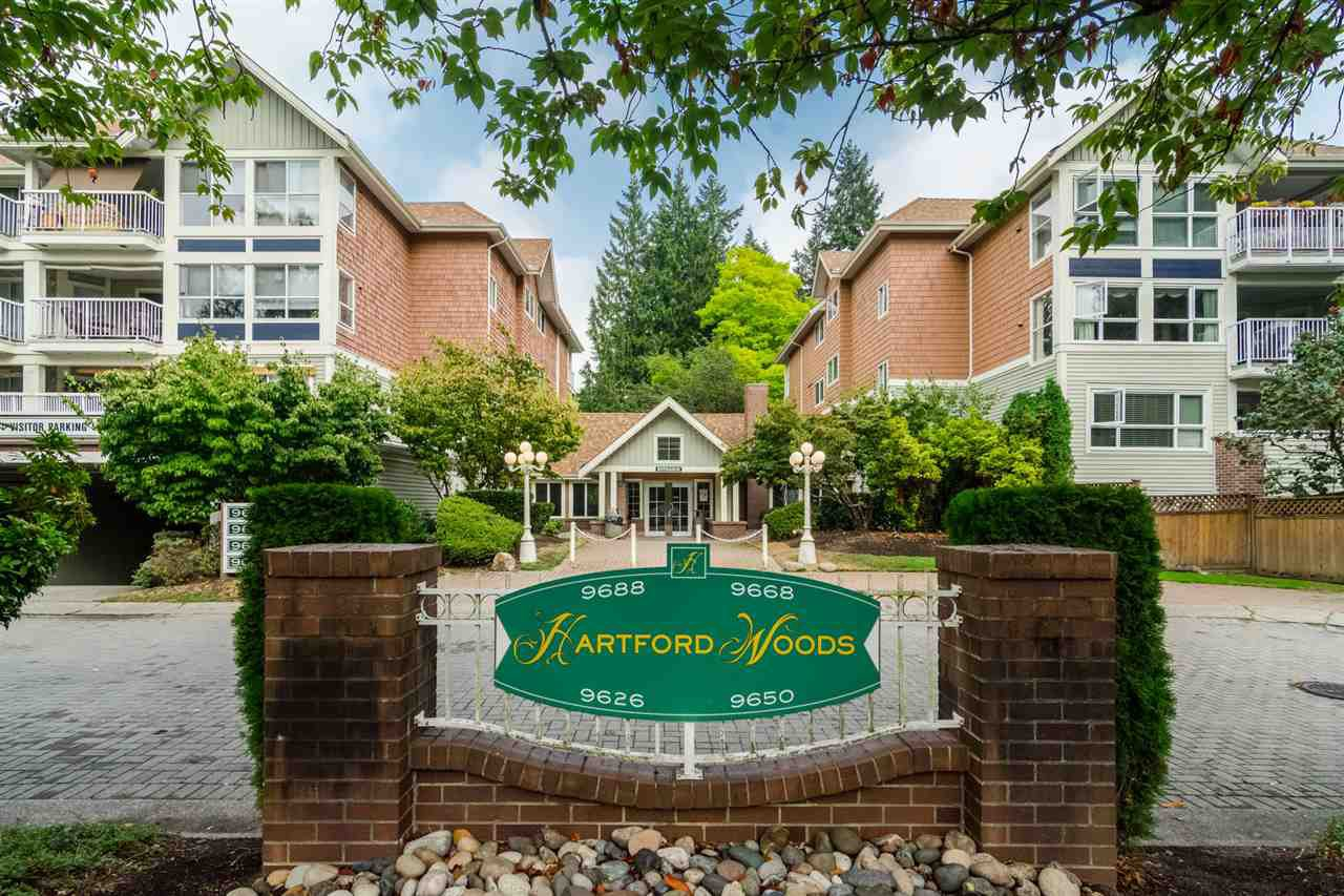 "Main Photo: 203 9626 148 Street in Surrey: Guildford Condo for sale in ""Hartford Woods"" (North Surrey)  : MLS®# R2293967"