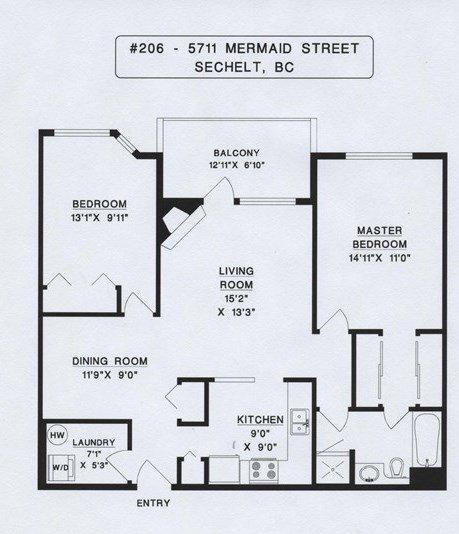 Photo 16: Photos: 206 5711 MERMAID Street in Sechelt: Sechelt District Condo for sale (Sunshine Coast)  : MLS®# R2419059