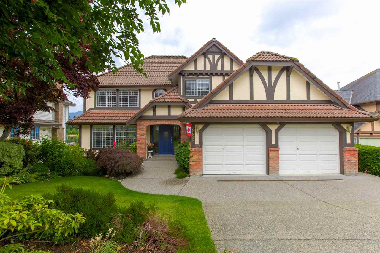 "Main Photo: 588 CLEARWATER Way in Coquitlam: Coquitlam East House for sale in ""RIVER HEIGHTS"" : MLS®# R2392134"