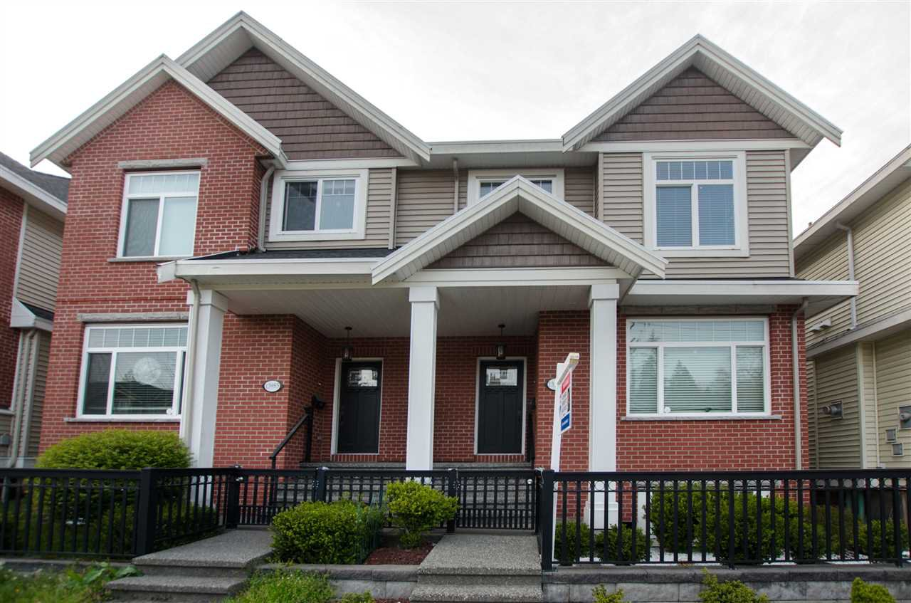 "Main Photo: 13987 64 Avenue in Surrey: East Newton House 1/2 Duplex for sale in ""HYLAND MEADOWS"" : MLS®# R2357838"