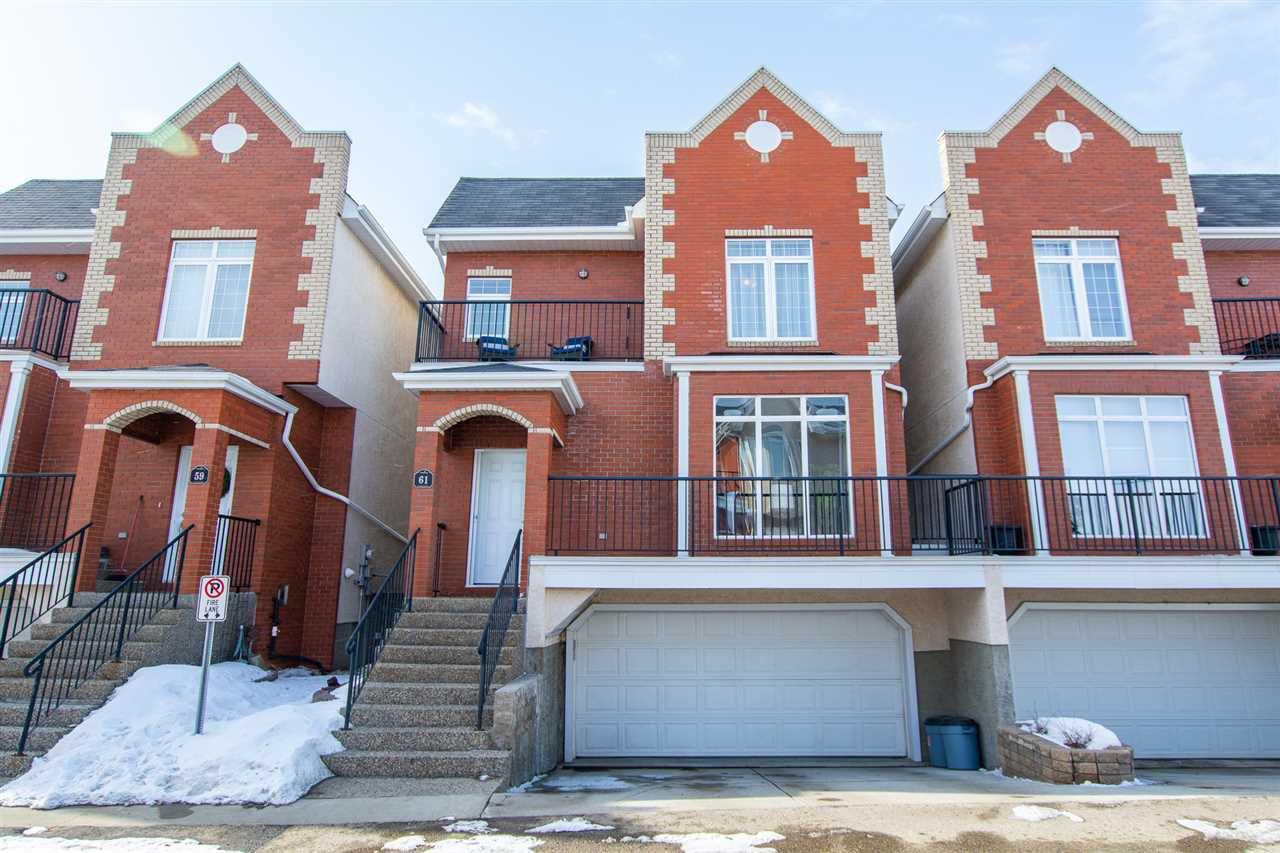 Main Photo: 61 8403 164 Avenue in Edmonton: Zone 28 Townhouse for sale : MLS®# E4191286