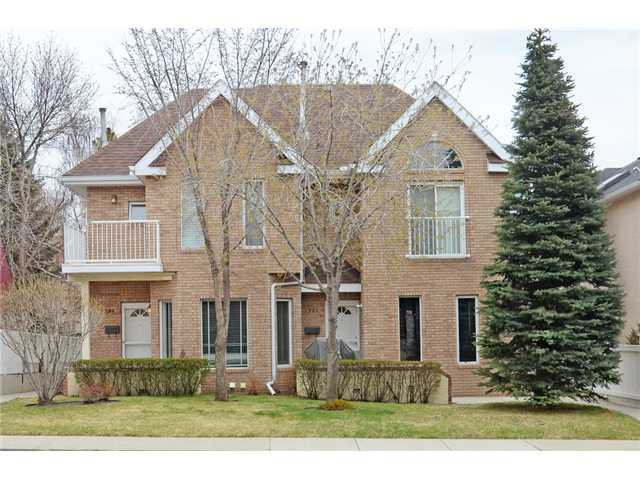 Main Photo: 1 1922 25 Street SW in CALGARY: Richmond Park_Knobhl Townhouse for sale (Calgary)  : MLS®# C3615671