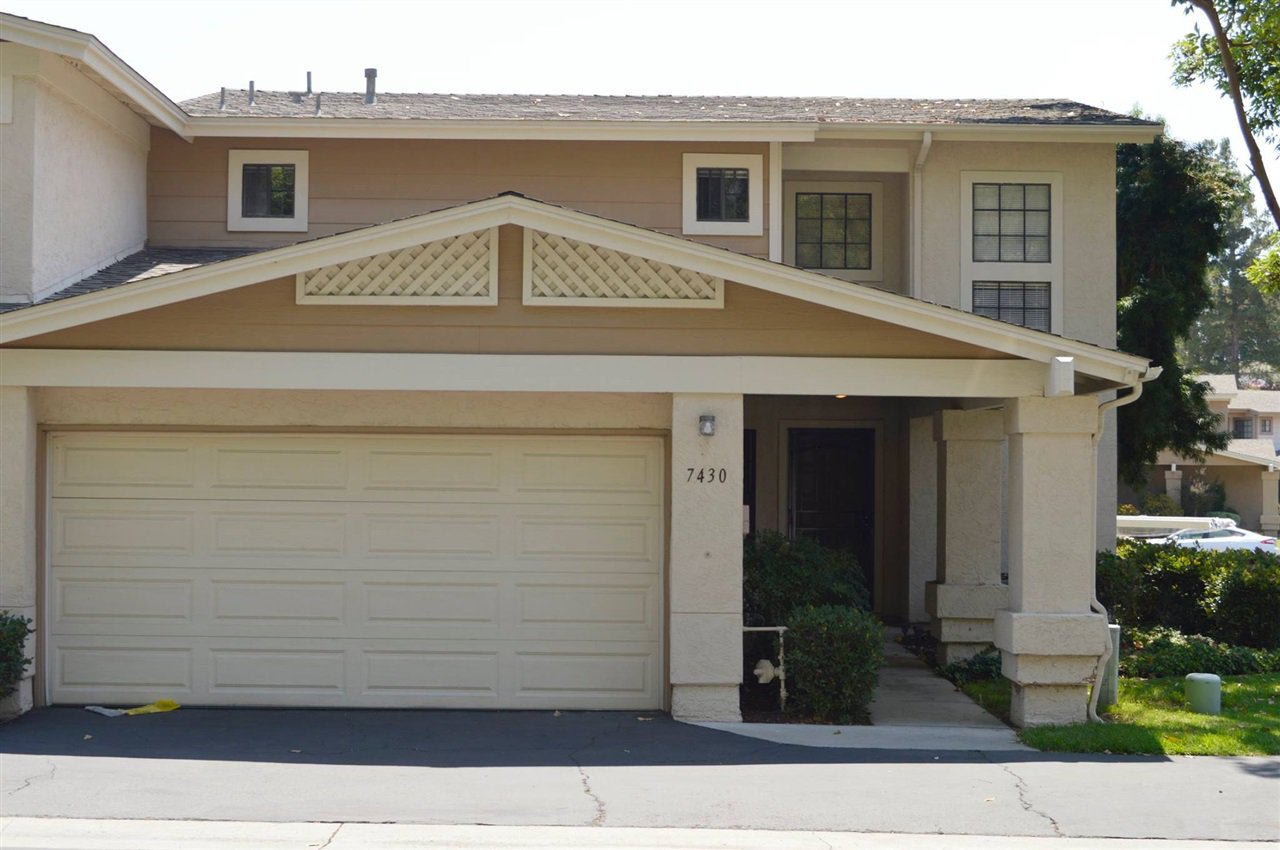 Main Photo: SAN CARLOS Townhome for sale : 3 bedrooms : 7430 Rainswept Ln in San Diego