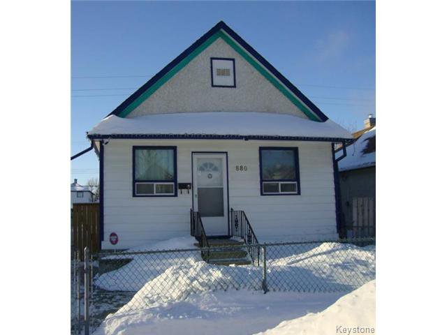 Main Photo: 880 REDWOOD Avenue in WINNIPEG: North End Residential for sale (North West Winnipeg)  : MLS®# 1402237