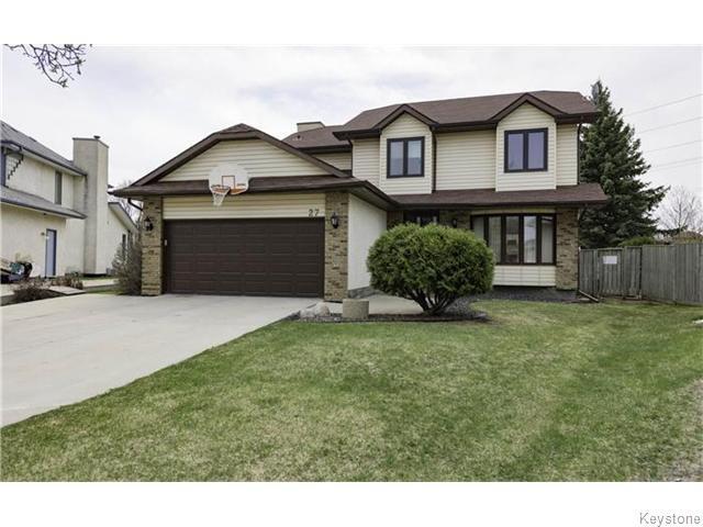 Main Photo: 27 Lancing Cove in Winnipeg: Fort Garry / Whyte Ridge / St Norbert Residential for sale (South Winnipeg)  : MLS®# 1611776