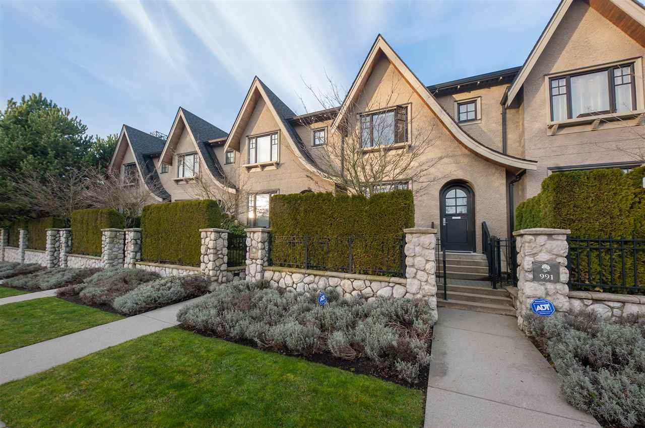 Photo 1: Photos: 991 W 38TH AVENUE in Vancouver: Cambie Townhouse for sale (Vancouver West)  : MLS®# R2350357