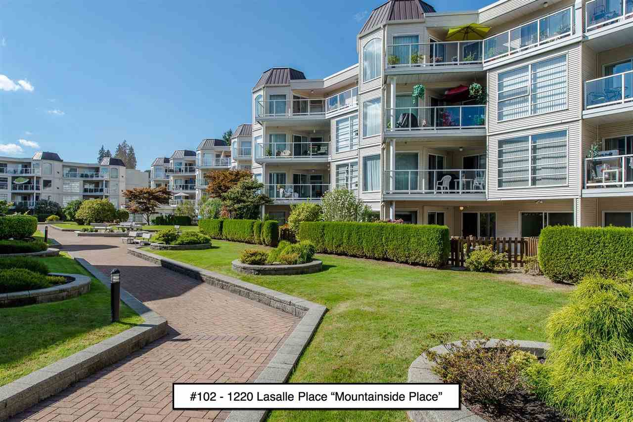 "Main Photo: 102 1220 LASALLE Place in Coquitlam: Canyon Springs Condo for sale in ""Mountainside Place"" : MLS®# R2202260"