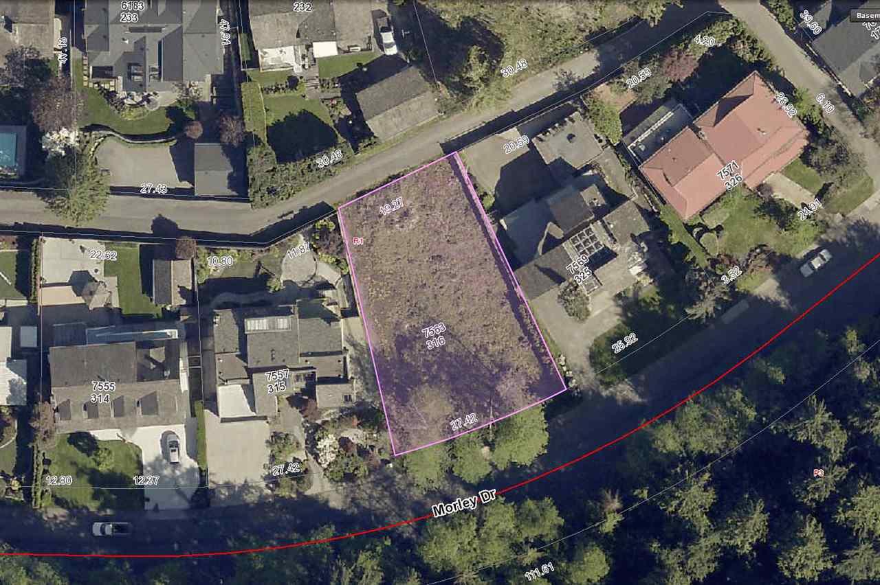 "Main Photo: 7563 MORLEY Drive in Burnaby: Buckingham Heights Land for sale in ""Buckingham Heights"" (Burnaby South)  : MLS®# R2242099"