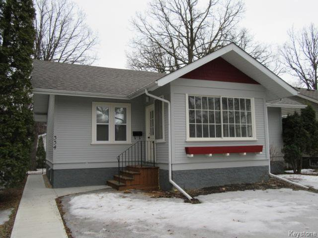 Main Photo: 334 Oakwood Avenue in Winnipeg: Riverview Residential for sale (1A)  : MLS®# 1706711