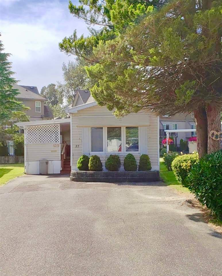 Main Photo: 27 45111 WOLFE Road in Chilliwack: Chilliwack W Young-Well Manufactured Home for sale : MLS®# R2376360