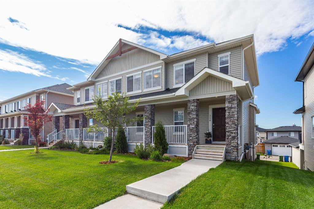 Main Photo: 320 Rainbow Falls Green: Chestermere Semi Detached for sale : MLS®# A1011428