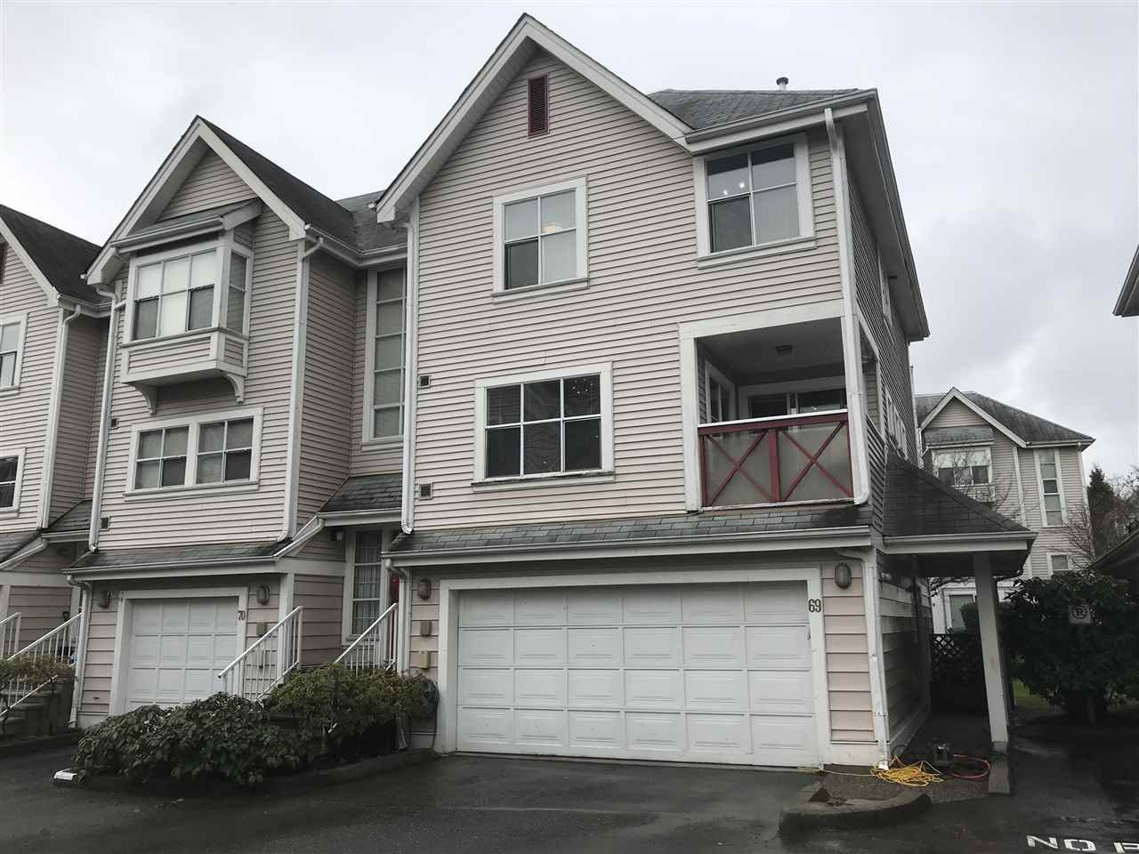 Main Photo: 69 2450 HAWTHORNE Avenue in Port Coquitlam: Central Pt Coquitlam Townhouse for sale : MLS®# R2437275