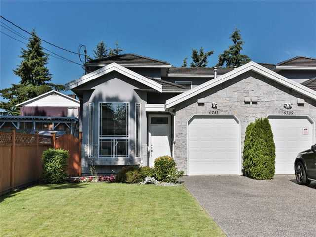 Main Photo: 6731 ASHWORTH Avenue in Burnaby: Upper Deer Lake House 1/2 Duplex for sale (Burnaby South)  : MLS®# V1071730
