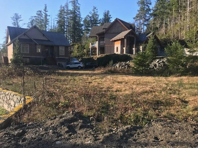 Lot 40 is flat and level for an easier build than on a hill. It is set for a bungalow at grade.