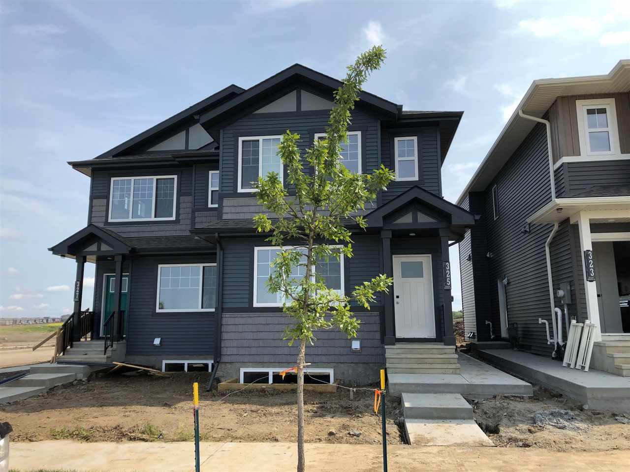 Main Photo: 303 Orchards Boulevard in Edmonton: Zone 53 House Half Duplex for sale : MLS®# E4172082