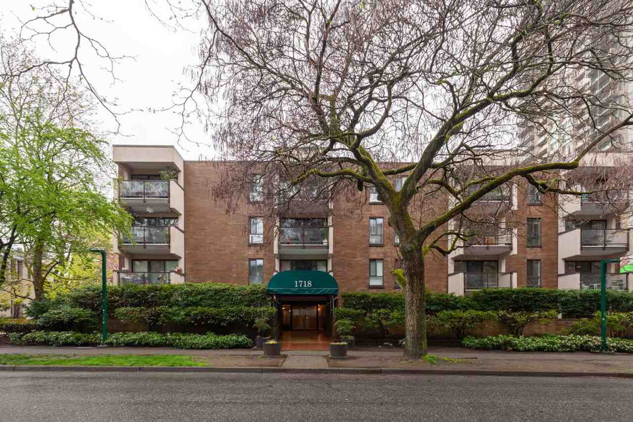 """Main Photo: 307 1718 NELSON Street in Vancouver: West End VW Condo for sale in """"REGENCY TERRACE"""" (Vancouver West)  : MLS®# R2360835"""