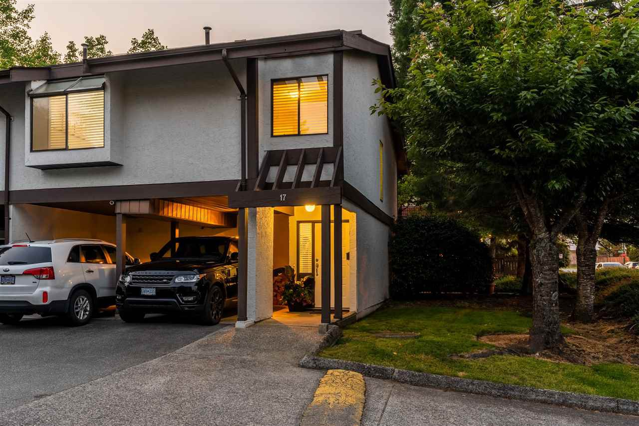 Main Photo: 17 1184 INLET Street in Coquitlam: New Horizons Townhouse for sale : MLS®# R2391750