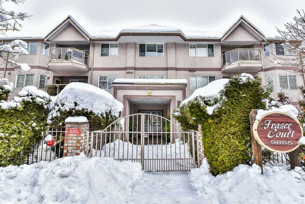 "Main Photo: 106 9865 140 Street in Surrey: Whalley Condo for sale in ""Fraser Court"" (North Surrey)  : MLS®# R2137812"