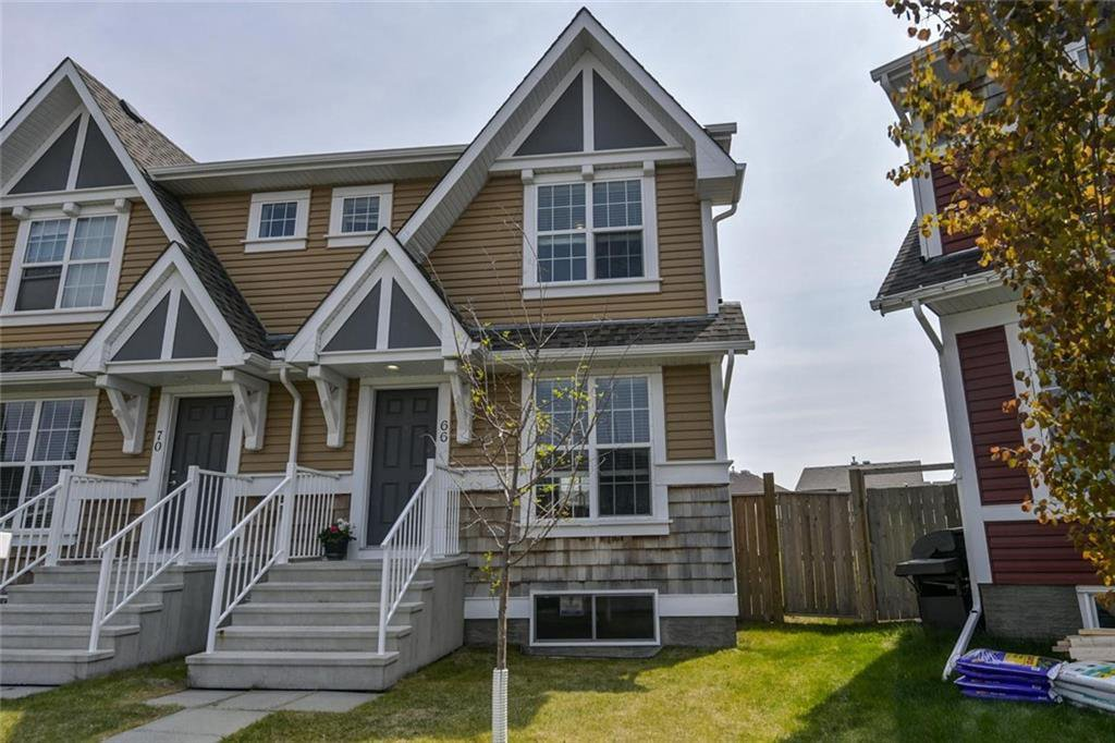 Main Photo: 66 AUBURN CREST Place SE in Calgary: Auburn Bay Semi Detached for sale : MLS®# C4247554