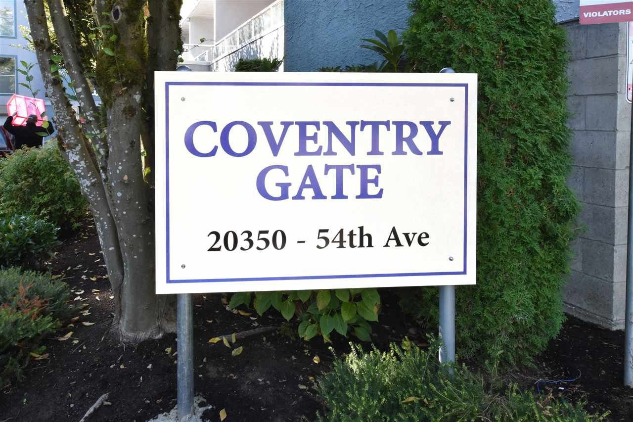 "Main Photo: 207 20350 54 Avenue in Langley: Langley City Condo for sale in ""Coventry Gate"" : MLS®# R2205641"