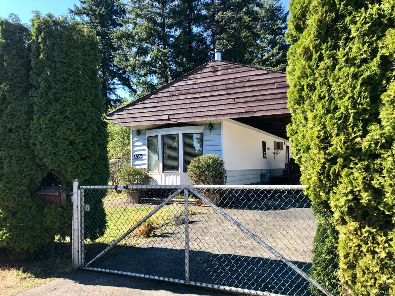 Main Photo: 2136 EBERT ROAD in CAMPBELL RIVER: CR Campbell River North Manufactured Home for sale (Campbell River)  : MLS®# 771428