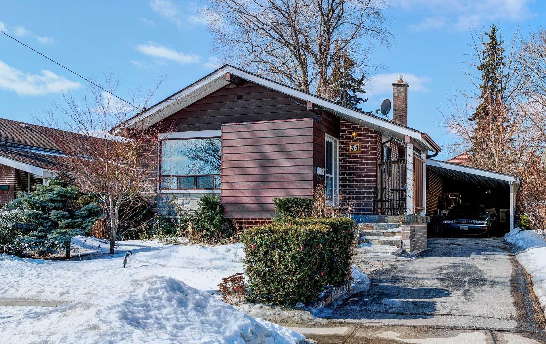 Main Photo: 34 Rowallan Drive in Toronto: West Hill House (Bungalow) for sale (Toronto E10)  : MLS®# E4382523