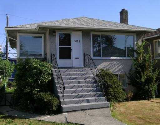 Main Photo: 3015 East 26th Avenue in Vancouver: Home for sale : MLS®# V605200