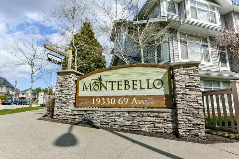 """Main Photo: 18 19330 69 Avenue in Surrey: Clayton Townhouse for sale in """"MONTEBELLO"""" (Cloverdale)  : MLS®# R2302417"""