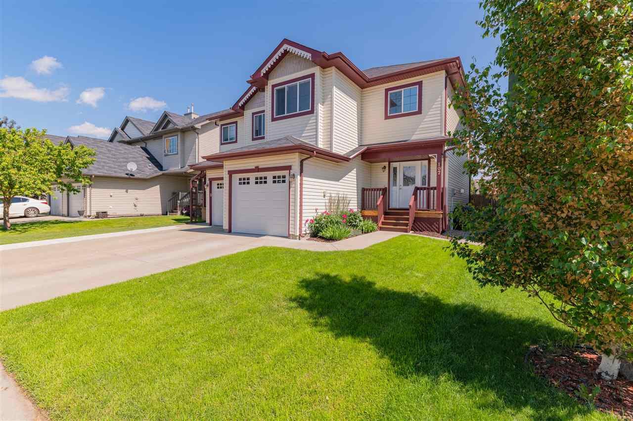 Main Photo: 107 Galloway Wynd: Fort Saskatchewan House Half Duplex for sale : MLS®# E4205927