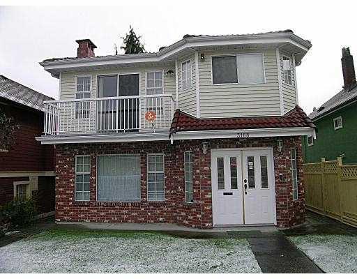 Main Photo: 3168 ADANAC ST in Vancouver: Renfrew VE House for sale (Vancouver East)  : MLS®# V567108