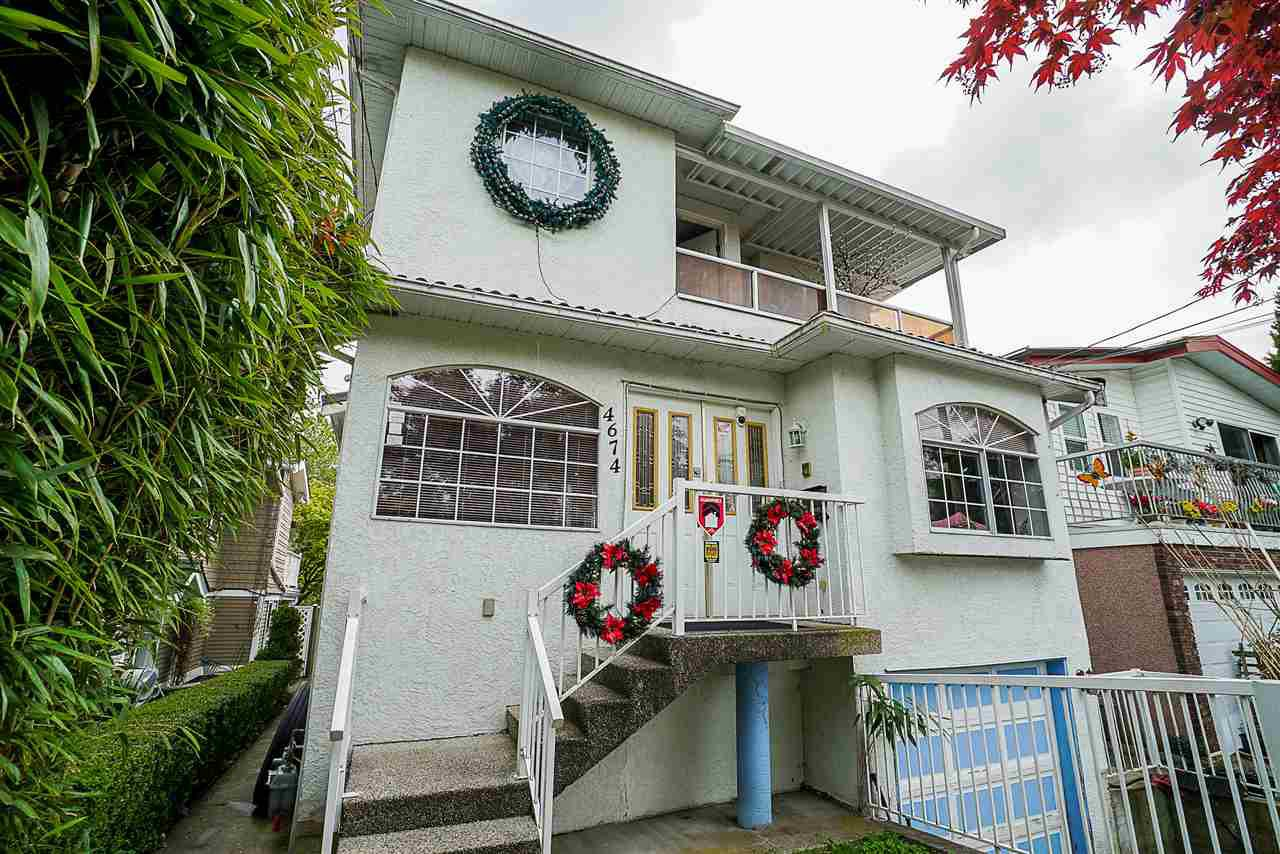 Main Photo: 4674 SOPHIA Street in Vancouver: Main House for sale (Vancouver East)  : MLS®# R2285313