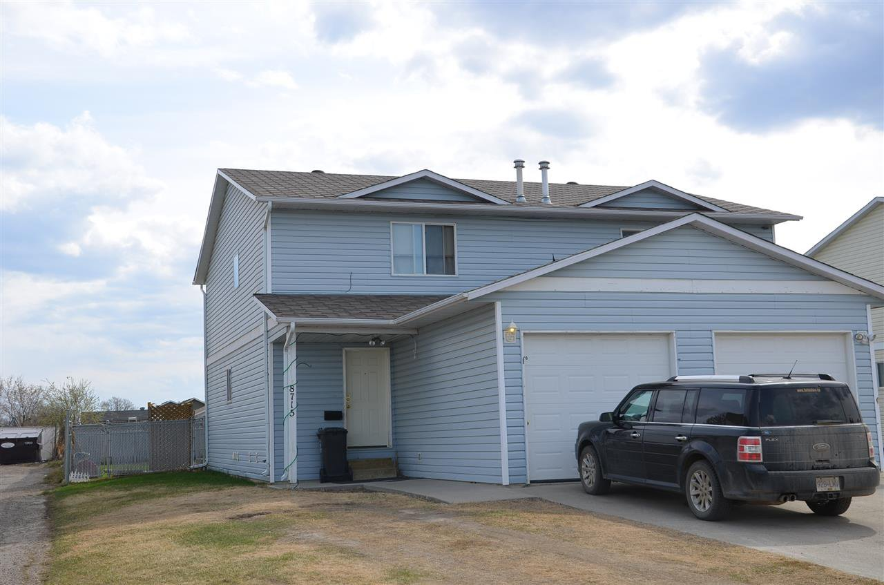 Main Photo: 8715 99 Avenue in Fort St. John: Fort St. John - City SE House 1/2 Duplex for sale (Fort St. John (Zone 60))  : MLS®# R2430822