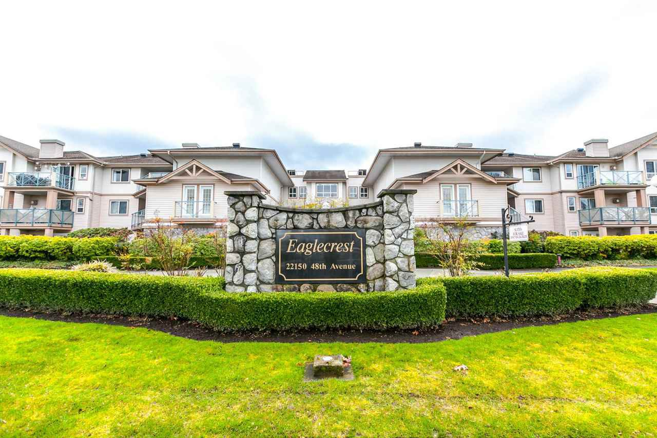 "Main Photo: 216 22150 48 Avenue in Langley: Murrayville Condo for sale in ""Eaglecrest"" : MLS®# R2146185"