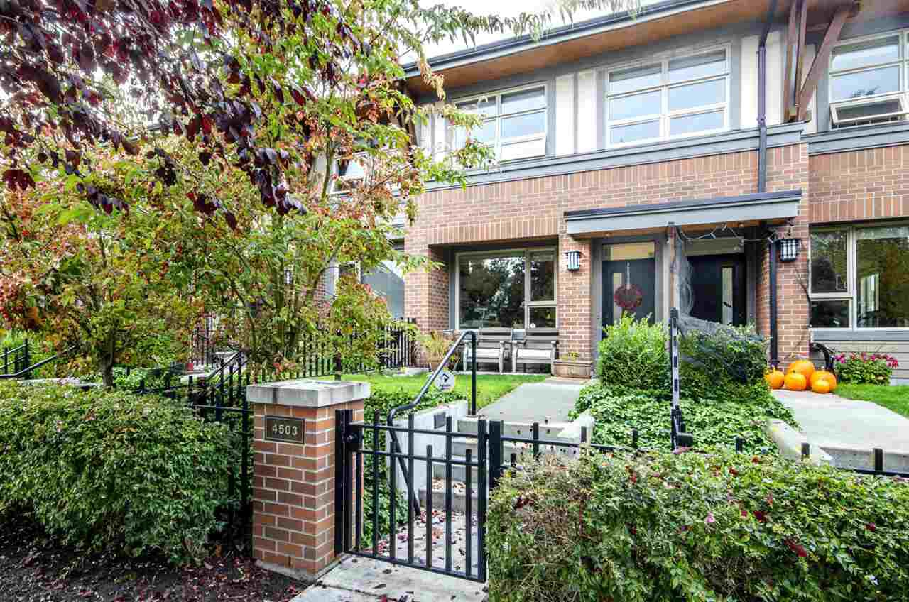 "Main Photo: 4503 PRINCE ALBERT Street in Vancouver: Fraser VE Townhouse for sale in ""Century Signature Collection"" (Vancouver East)  : MLS®# R2337403"