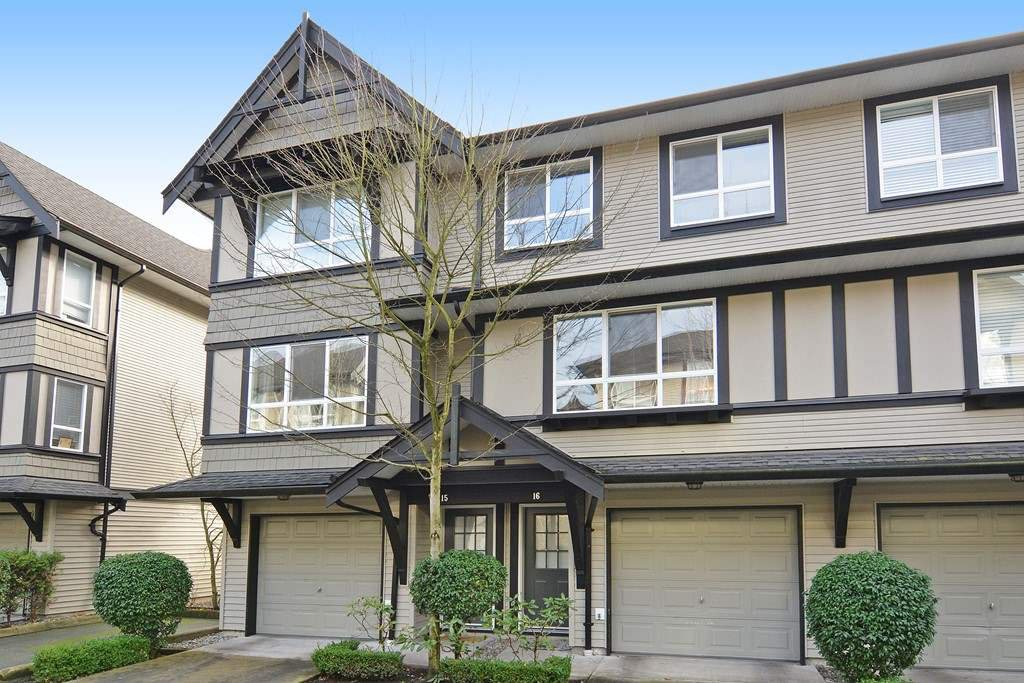 "Main Photo: 16 6747 203 Street in Langley: Willoughby Heights Townhouse for sale in ""Sagebrook"" : MLS®# R2125819"