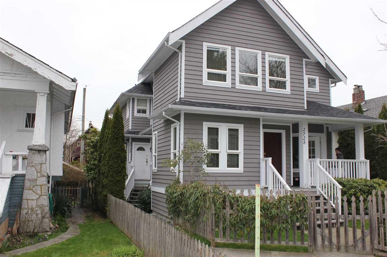Main Photo: 2727 W 8TH Avenue in Vancouver: Kitsilano 1/2 Duplex for sale (Vancouver West)  : MLS®# R2255865